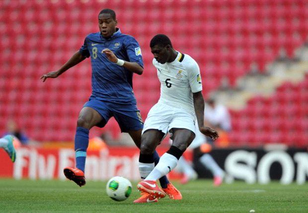France's Geoffrey Kondogbia vies with Ghana's Joseph Duncan (Getty)