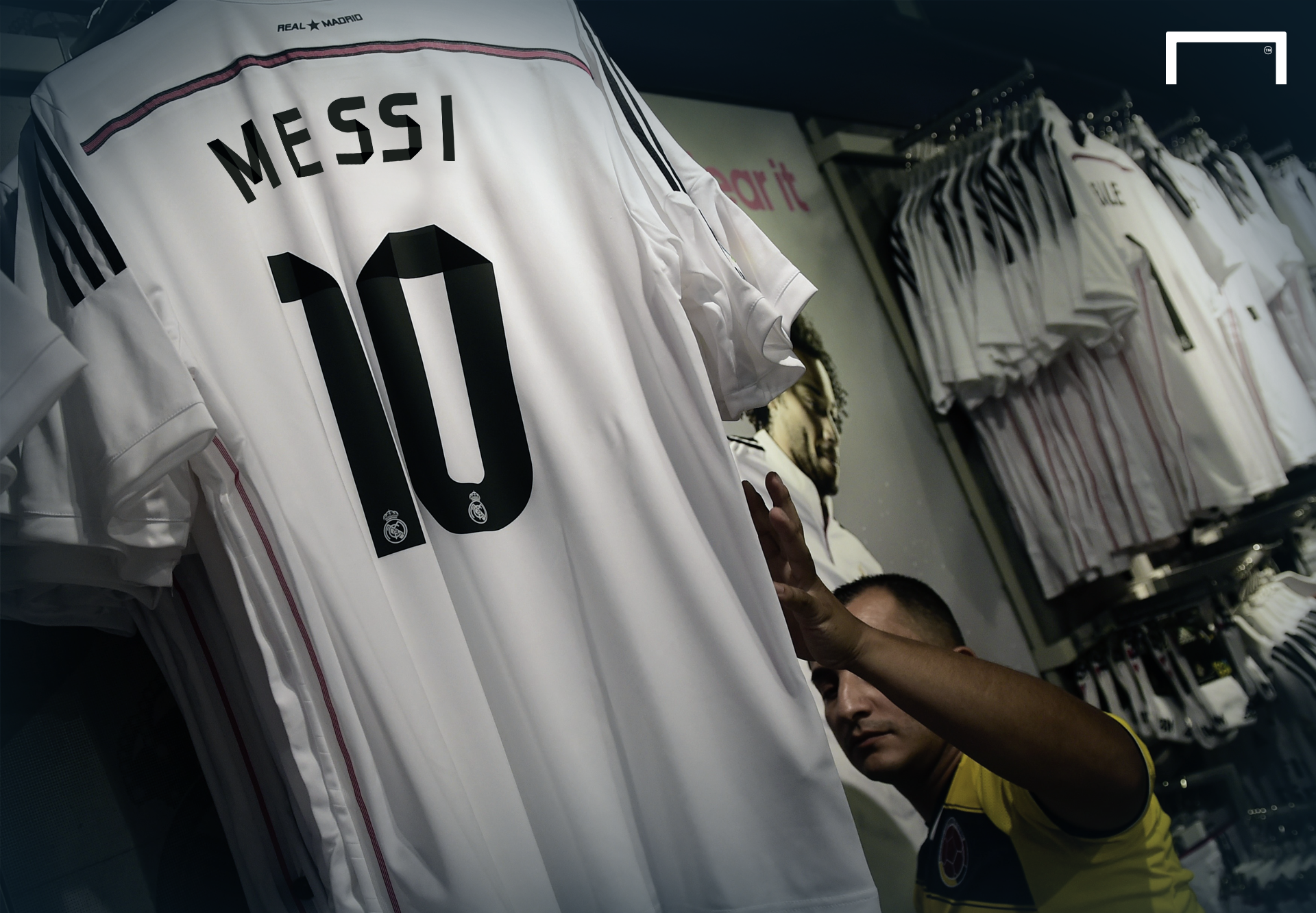 official photos e9ea2 a6440 Football world in shock as Messi agrees €500m Real Madrid ...
