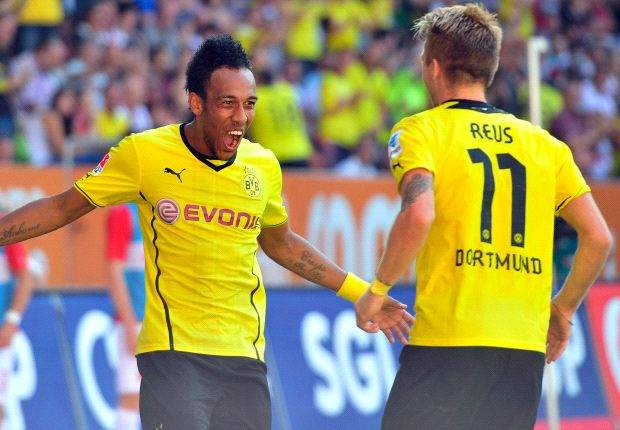 Augsburg 0-4 Borussia Dortmund: Aubameyang hits hat-trick on dream Bundesliga debut