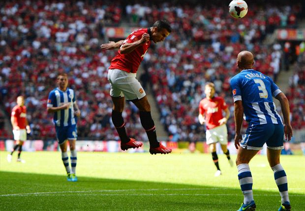 Wigan 0-2 Manchester United: Van Persie double seals first trophy for Moyes