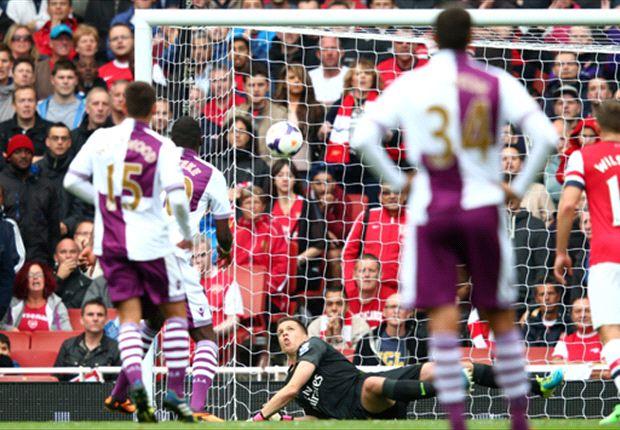 Arsenal 1-3 Aston Villa: Benteke & Luna sink 10-man Gunners