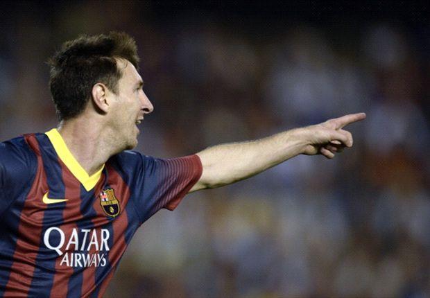 Messi jadi bintang kemenangan Barcelona di Mestalla.