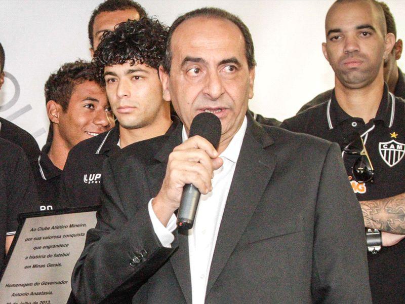 Kalil diz que estádio próprio do Atlético-MG está próximo e que clube abre mão dos 10% da torcida em clássico