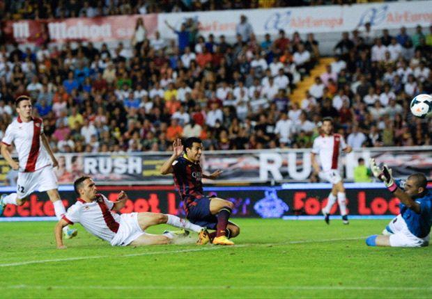 Rayo Vallecano 0-4 Barcelona: Pedro hat-trick seals Blaugrana win
