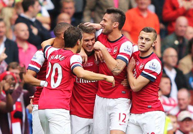 Arsenal 3-1 Stoke City: Ozil sets up Gunners treble