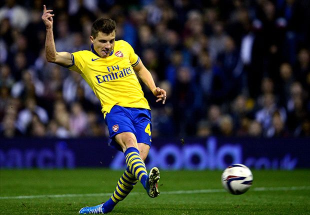 West Brom 1-1 Arsenal (3-4 on pens): Monreal the hero as Gunners progress to face Chelsea