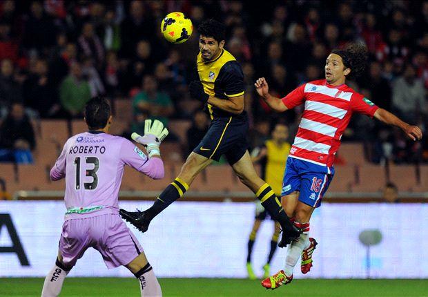 Granada 1-2 Atletico Madrid: Costa and Villa on the spot for Rojiblancos