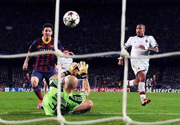 Barcelona 3-1 AC Milan: Messi catapults Catalans into last 16