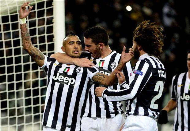 Juventus 3-1 Copenhagen: Vidal hits hat-trick in vital victory for Bianconeri