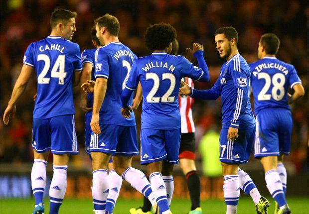 Sunderland 3-4 Chelsea: Inspired Hazard downs Black Cats