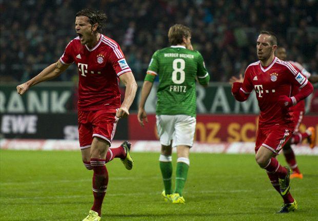 Werder Bremen 0-7 Bayern Munich: Ribery leads rout as champions run riot