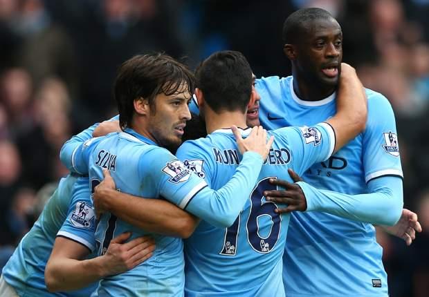 Manchester City 6-3 Arsenal: Pellegrini's side fire title warning in nine-goal thriller