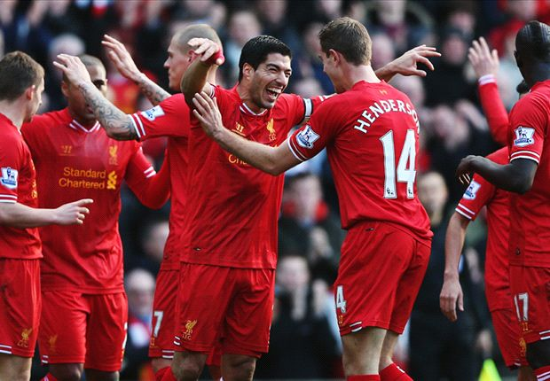 Liverpool 3-1 Cardiff City: Suarez caps perfect week by sending Reds top