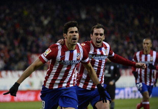 Atletico Madrid 3-2 Levante: Diego Costa at the double as Rojiblancos go top of La Liga
