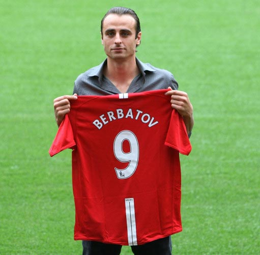 9 Dimitar Berbatov To Manchester United 2008