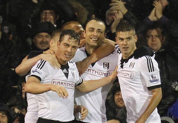 Fulham 2-1 West Ham: Sidwell & Berbatov punish 10-man Hammers