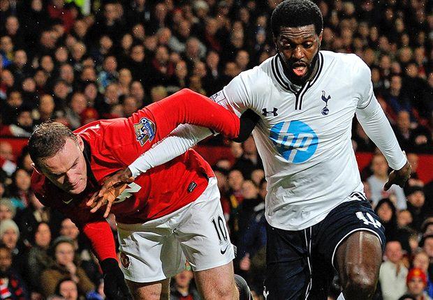 Manchester United 1-2 Tottenham: Adebayor & Eriksen see Spurs leapfrog Moyes' men