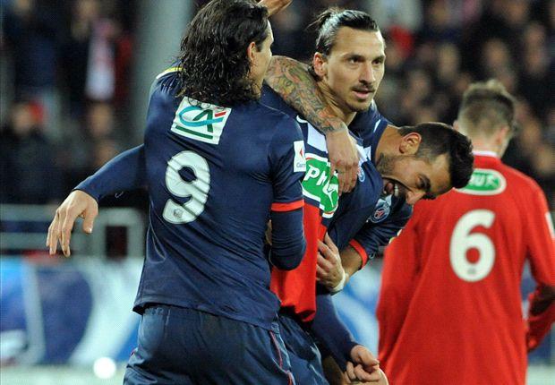 Brest 2-5 Paris Saint-Germain: Ibrahimovic hat trick helps brush aside hosts