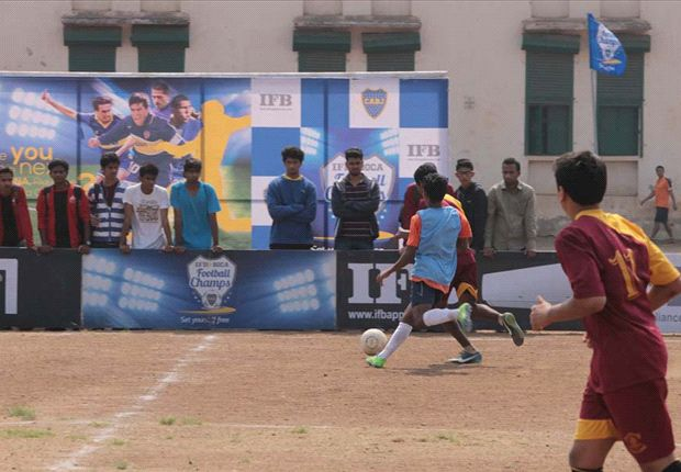 Action from the College Leg