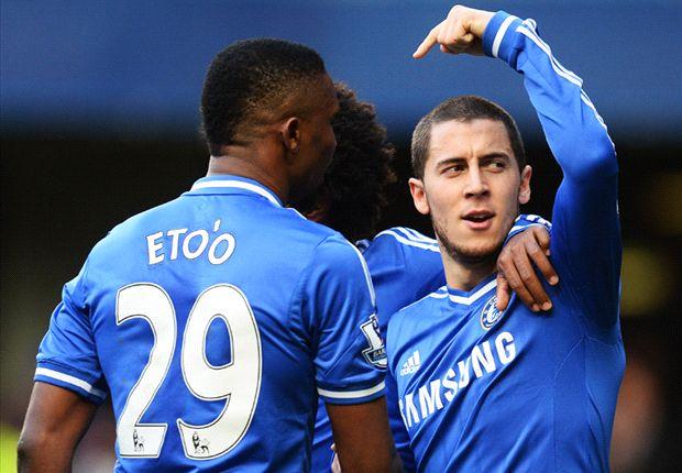 Chelsea 3-0 Newcastle: Hazard hat-trick sends Blues top