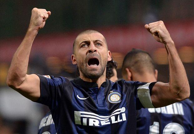 Inter 1-0 Sassuolo: Samuel header seals first win in 2014