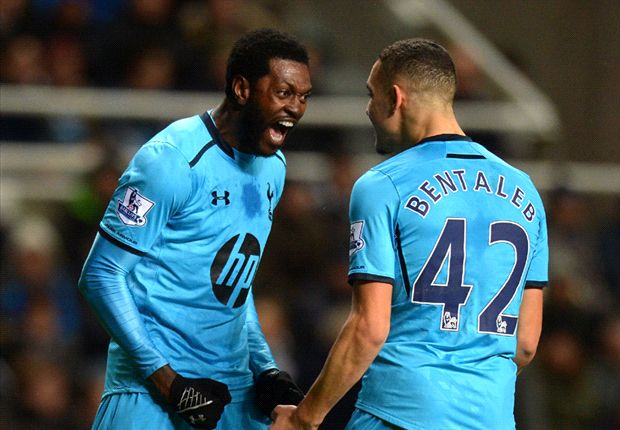 Newcastle 0-4 Tottenham: Adebayor double boosts Spurs' top-four hopes