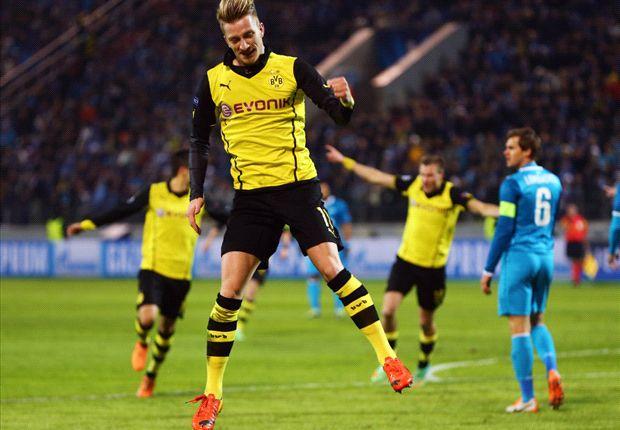 Reus ha firmato il raddoppio del Borussia in casa dello Zenit.