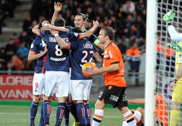 Lorient 0-1 Paris Saint-Germain: Les Parisiens stretch lead at the top