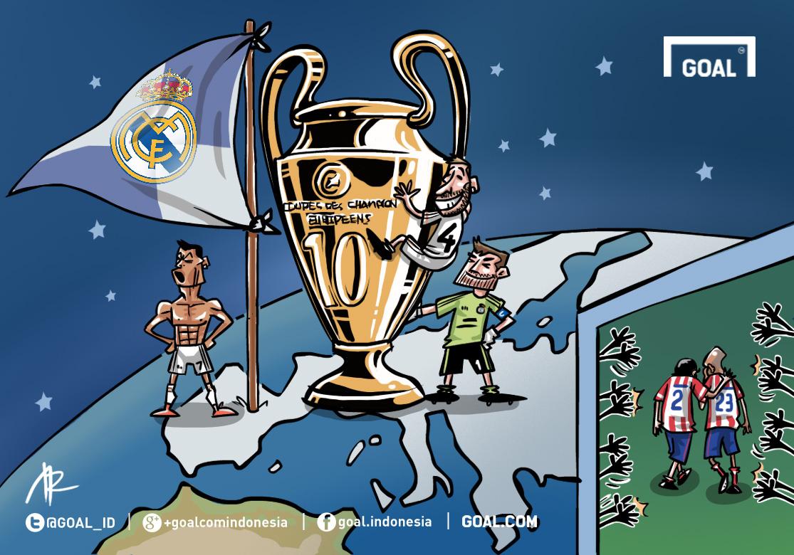 GALERI Kartun Goal Indonesia La Decima Bagi Real Madrid Respect