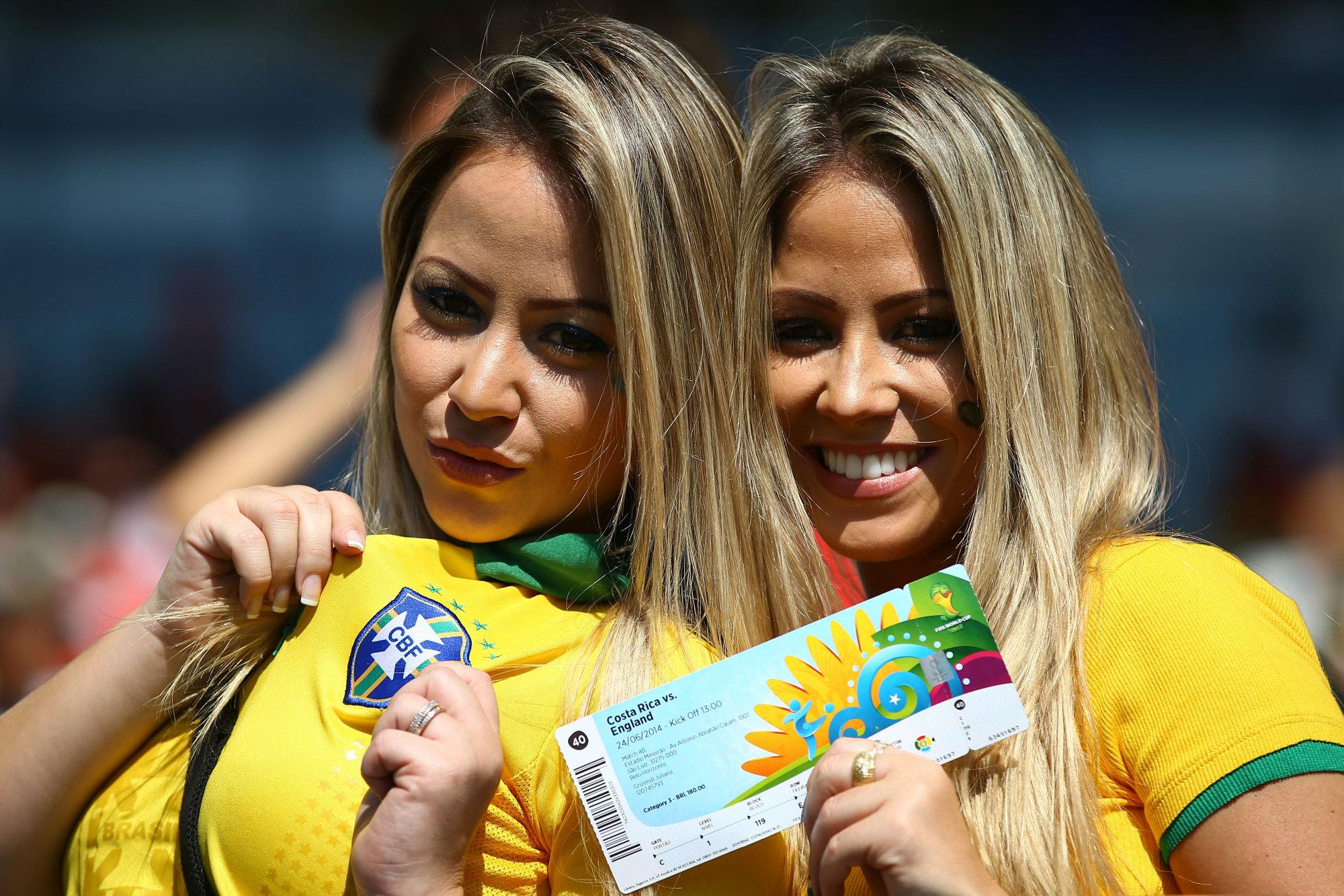 les supportrices de la coupe du monde 2014 - supportrices du br u00e9sil