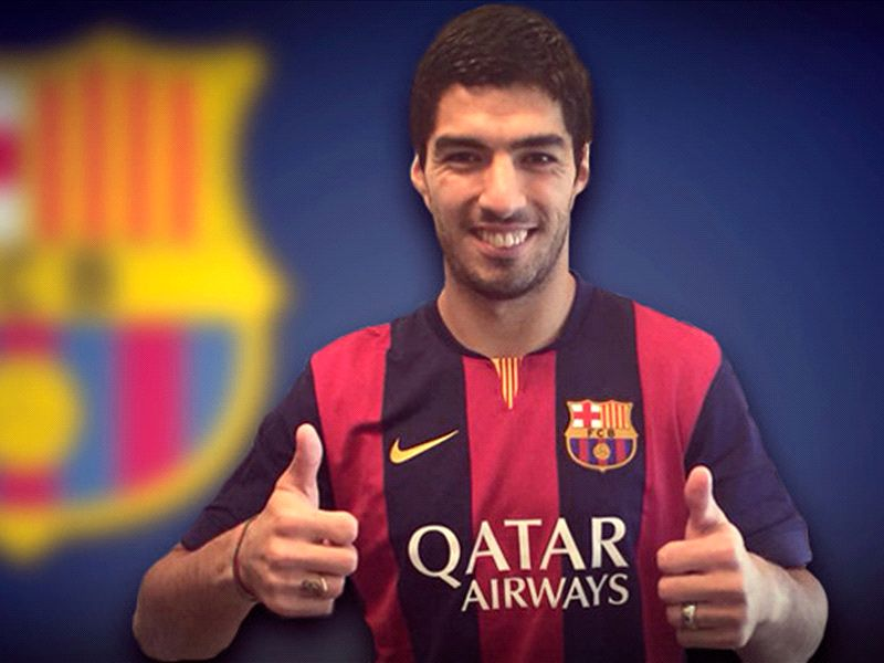 Luis Suarez handed No.9 shirt at Barcelona