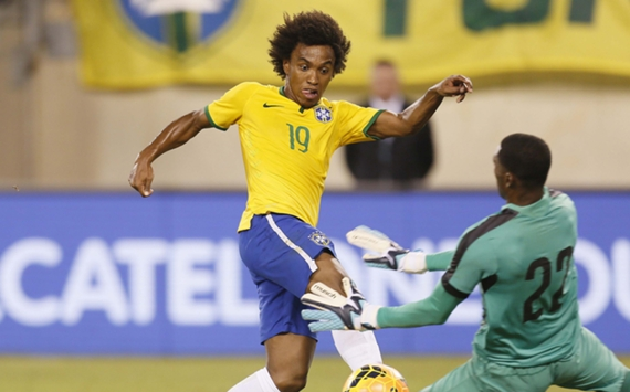 Willian Brazil Ecuador International Friendly 09092014
