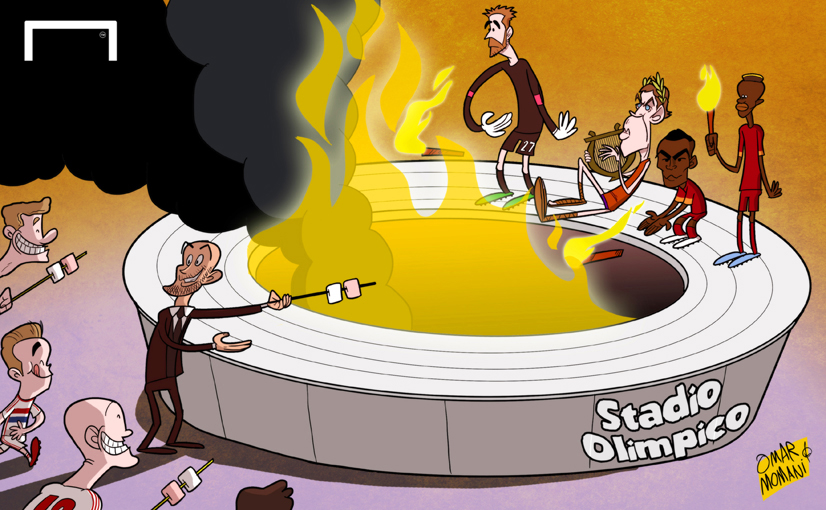 البايرن يتألق في ليلة حريق روما