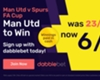 Get 6/1 on Man Utd to beat Spurs - paid in cash