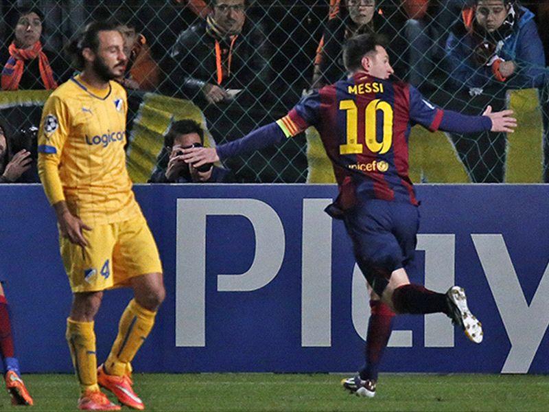 APOEL 0-4 Barcelona: Messi smashes Champions League record | Goal.com