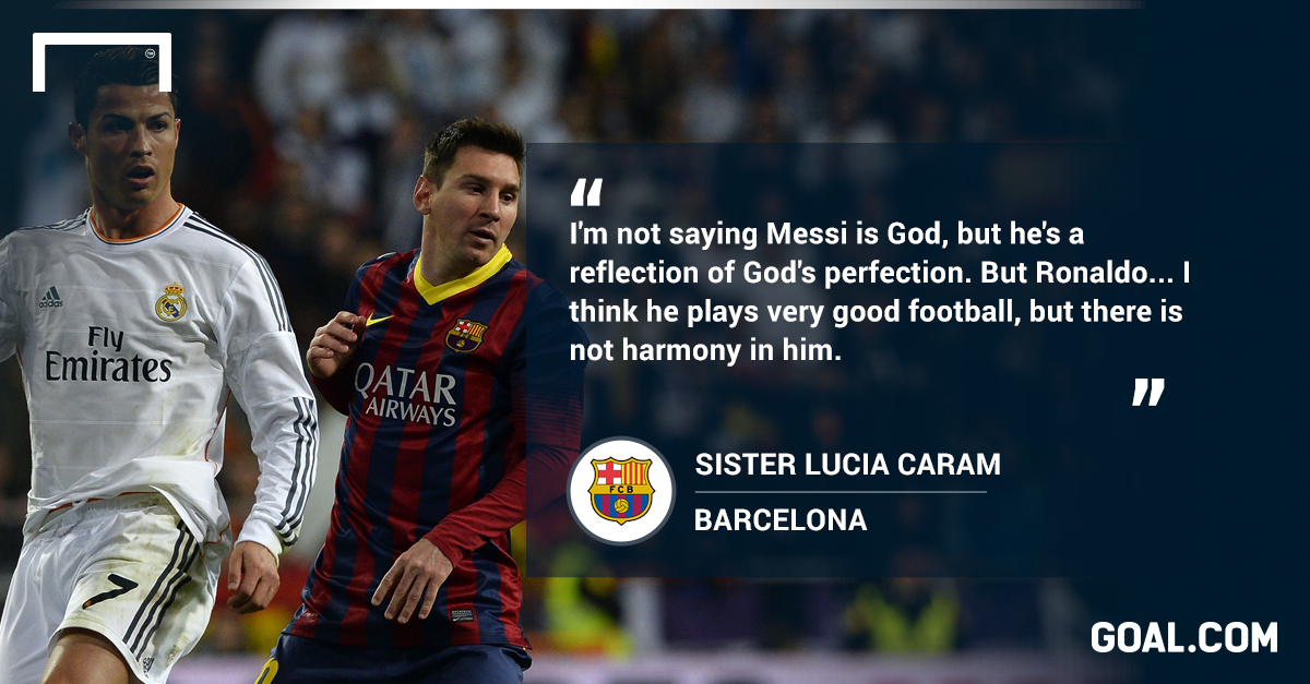 Messi is God's reflection, but Ronaldo's not the devil' | Goal com