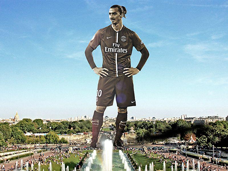 Ibrahimovic Eiffelturm Durch Zlatan Statue Ersetzen Goal Com