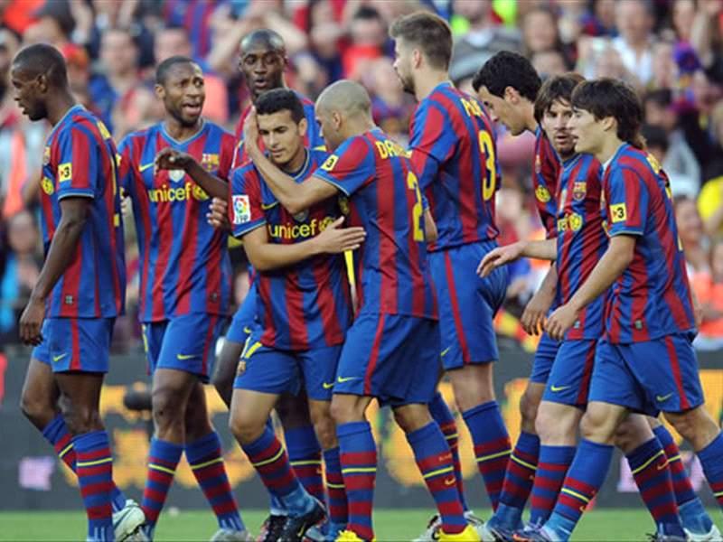 Barcelona Win La Liga 2009 10 Goal Com
